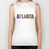 atlanta Biker Tanks featuring ATLANTA by Mental Activity