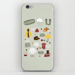 Autumn Essentials iPhone Skin