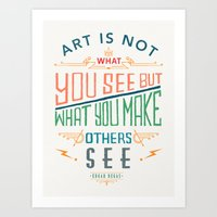 degas Art Prints featuring Edgar Degas Quote by Bacht