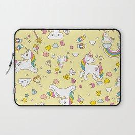 Unicorn Yellow Pattern Laptop Sleeve