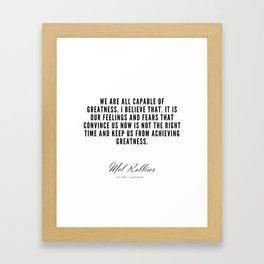 18   | Mel Robbins Quotes | 190802 Framed Art Print