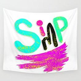 "Graffiti Neon ""Simp"" Logo Wall Tapestry"