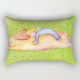 sleeping buny Rectangular Pillow