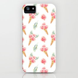 Floral Cones Pattern iPhone Case