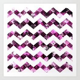 Purple Zig Zags I Art Print