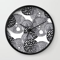 planets Wall Clocks featuring PLANETS by Mari