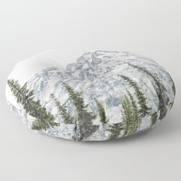 Grand Teton National Park Adventure III - Wanderlust Mountains Floor Pillow