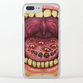 TONGUE INFECTION Clear iPhone Case