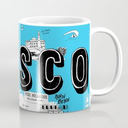 "San Francisco ""Don't Call It Frisco"" Map Coffee Mug"
