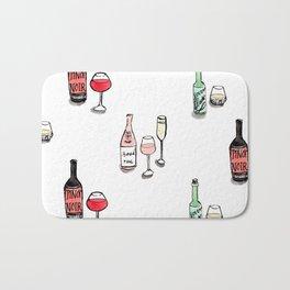 #DrinkWineDay Pattern Bath Mat