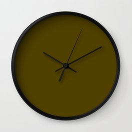 Dark Bronze (Coin) - solid color Wall Clock