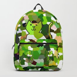 Crystal Cat - Green Backpack