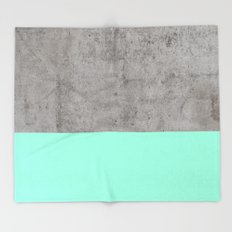 Sea on Concrete Throw Blanket