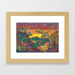 insectal convergance Framed Art Print