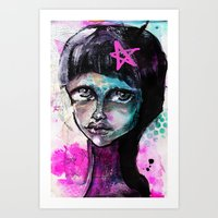 sister Art Prints featuring SIsTeR by SannArt