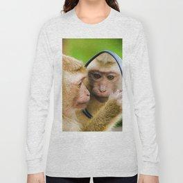 Monkey Mirror (Color) Long Sleeve T-shirt