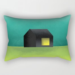 Simple Housing | House in a lowland Rectangular Pillow