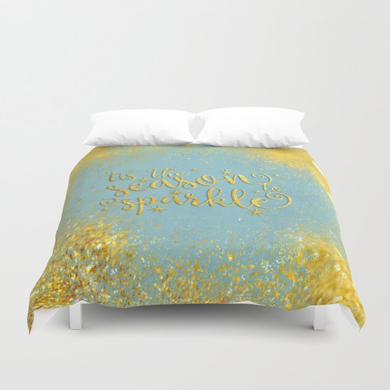 The season sparkle  Duvet Cover