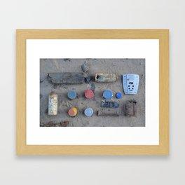 Trash Knolling, 2013. Framed Art Print