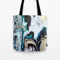 orca Tote Bags featuring Orca by Lauren Yonenson