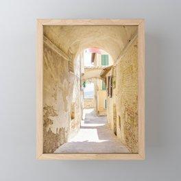 Passaggio - Pienza Tuscany, Italy Framed Mini Art Print