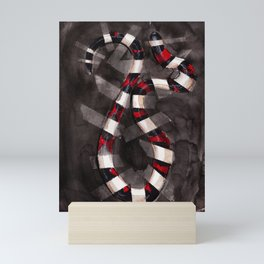 Striped Snake Mini Art Print
