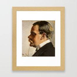 Hakon Borresen by Michael Ancher, 1910 Framed Art Print