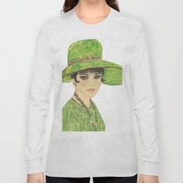 Lady In Green Long Sleeve T-shirt