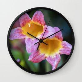 Tangerine Beauty Cross Vine Pair Wall Clock