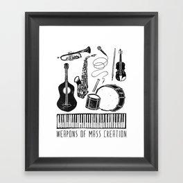 Weapons Of Mass Creation - Music Framed Art Print