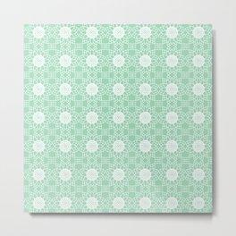Doily - mint green Metal Print