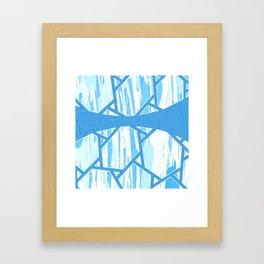 Abstract Blue Mosaic Design Framed Art Print
