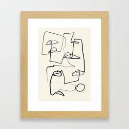 Abstract line art 12 Framed Art Print