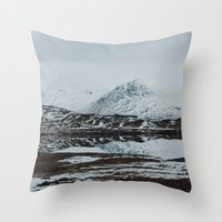 scotland Throw Pillows featuring Glencoe, Scotland by Diana Eastman