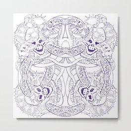 Purple DNA Skulls Cyber Monday Release Metal Print