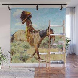 """The Chief"" Western Art by W Herbert Dunton Wall Mural"