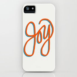 Fruit of the Spirit - Joy Hand Lettering iPhone Case
