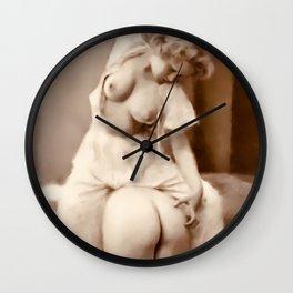 Digital Vintage Erotica Painting Wall Clock