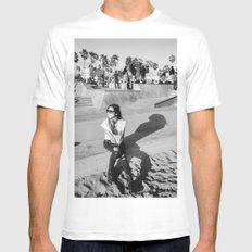 Venice Beach California White MEDIUM Mens Fitted Tee