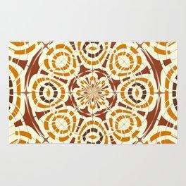 Brown and tan abstract Rug