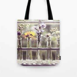 Windowsill Flowers Tote Bag