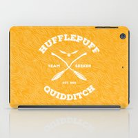 quidditch iPad Cases featuring Hufflepuff Quidditch by Sharayah Mitchell