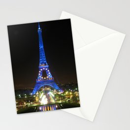 Scenic Eiffel Tower at Night Stationery Cards