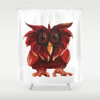 transparent Shower Curtains featuring Hoot Transparent by Megan Coyne