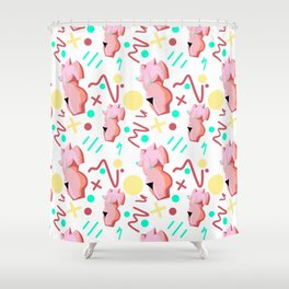 Pink Lady from the 80s Shower Curtain