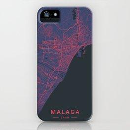 Malaga, Spain - Neon iPhone Case