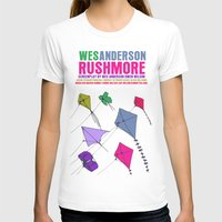 rushmore T-shirts featuring Rushmore Movie Poster by FunnyFaceArt