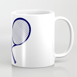 Crossed Rackets Silhouette Coffee Mug