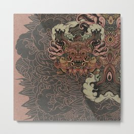 Bali smile sleeve Metal Print