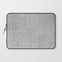 Smoke of Celebration Gray Basket Weave Laptop Sleeve